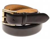 Morris Leather Belt Slim - Black