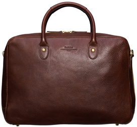 Computer Tote - Brown Leather