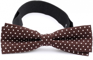 Slim Bow Tie Cotton Collection Dk.Brown Dots
