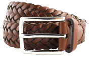 Leather Belt Men Brown