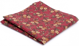 Hanky Cotton Collection Burgundy Flowers