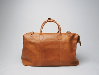 Weekend Bag Tan Leather