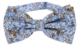 Fluga Floral | Light Blue White