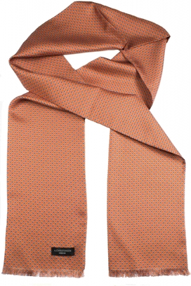 Sidenscarf Orange Small Paisley
