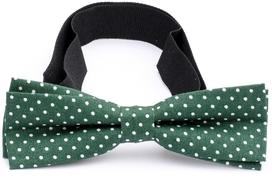 Slim Bow Tie Cotton Collection Green Dots