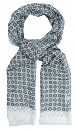 Scarf | Medallion | Light Grey