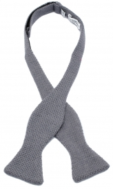 Oknuten Stickad Fluga Ull - Harbor Grey