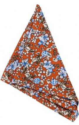 Näsduk Floral | Orange Blue