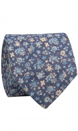 Slips Linen Flowers | Aegean Blue