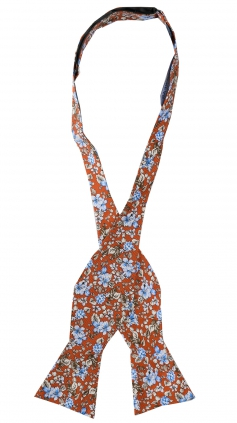 Oknuten Fluga Floral | Orange Blue